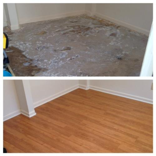 LVP @ Chesney Woods before and after pic