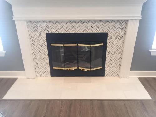 Matthews Reserves Apartments   Fireplace area   Coretec