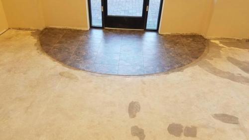 Merle Norman LVT install foyer pic