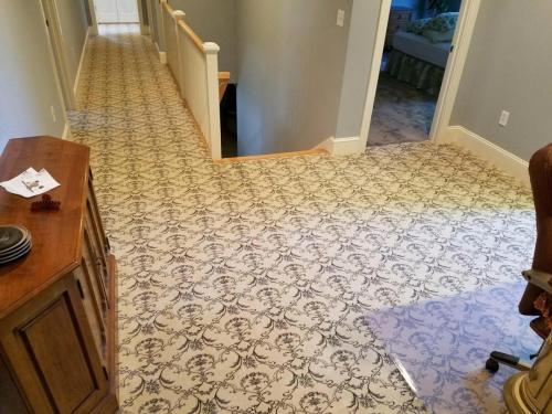 Pattern carpet install pic VERY NICE